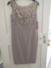 Little Mistress Nude and Lace Dress Size 14
