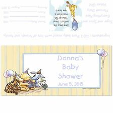 Winnie The Pooh Baby Shower Candy Bar Wrappers/Party Favors Design #2