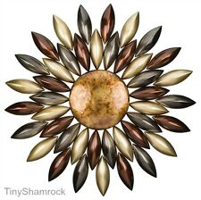 Large Wall Art Metal Sculpture Sunburst Indoor Outdoor Garden Fence Patio Decor