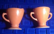 VTG HAZEL ATLAS OVIDE ORANGE RED Rust Anchor Hocking Fire King SUGAR CREAMER SET
