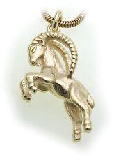 colgante de signo del Zodíaco aries ORO Auténtico 585 sólido 14 Quilates zodiaco