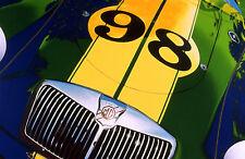1956 MG British English Race Car Hand Colored Photo Car Art Print racing