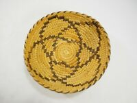 "Antique Pima Woven Basket with beautiful Geometric Design 6"" Diameter Circa 1930"