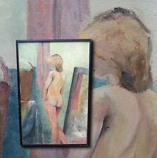 Art Nude. Französisches XXL Aktgemälde Rückenakt, Original sign. G. DENEUMOSTIER
