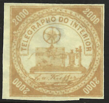 Brazil Telegraph stamp RH8, unused, without gum (*), 1873