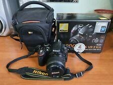 Nikon d3200 + obbiettivo nikkor af-s dx 18-55mm f/3,5-5,6 usata come nuova