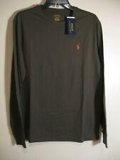 Polo Ralph Lauren Men's Long Sleeve Crew Neck T shirt NWT Olive Green