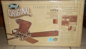 "Hunter CLASSIC Original 52"" Ceiling Fan Bright Brass 23854 OAK BLADES NEW SEALED"