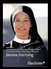 Janina Hartwig Um Himmels willen Autogrammkarte Original Signiert # BC 65071