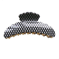 Large Black and White Hair Jaw Claw Clip