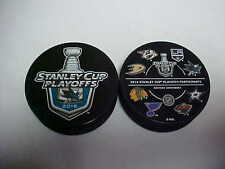 2016 NHL San Jose Sharks Stanley Cup Playoffs Hockey Two Puck Souvenir Pack