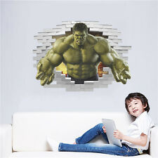 3D Removable Hulk Superhero Avengers Wall Sticker Mural Decal Baby room Decor