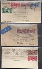 Uk Gb 1935 Collection Of 7 Covers Franked George V 25th Anniversary Sc 226 229