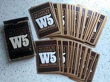 scotch whisky DOUBLE U FIVE W5 pubblicitarie playing cards 52 Carte da gioco