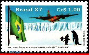2096 BRAZIL 1987 AIR FORCE C-130 TRANSPORT PLANE, AVIATION, ANTARCTIC C-1544 MNH