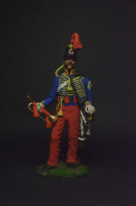 Tin soldier Trumpeter of the hussar regiment. Italy, 1848 54 mm