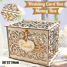 Wedding Money Box Holder W Sign Large Rustic Wood Wooden DIY Envelop Gift  A