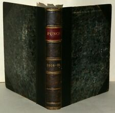 Punch - Hardback Book, Dated Oct 14th 1908 To May 1909 -  Illustrated