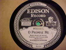 "10"" 80 RPM EDISON RECORD #80055 CHARLES CHALMERS CARRY ME BACK TO OLD VIRGINNY"