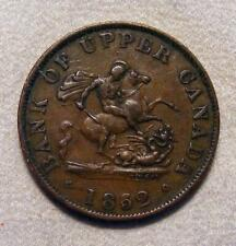 1852 Bank Of Upper Canada Half Penny Token!!  BR-720!! 1/2 Penny!!