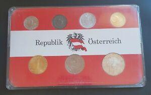1970 Austria Proof Set - 7 Proof Coins Republik Österreich Set