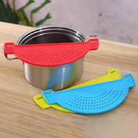 Kitchen Accessories Drain Basket Wash Rice Filter Baffle For Pot Side Drainer PM
