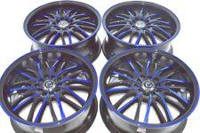 17 blue Wheels Rims Avenger Eclipse Galant Escape Fusion Accord TC 5x100 5x114.3