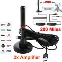 30dbi Powerful DVB-T2 HD antenna DVBT DAB rod antenna + amplifier YK