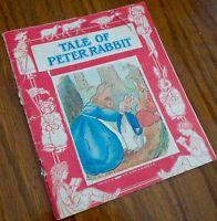 VINTAGE TALE OF PETER RABBIT CHILDREN'S BOOK, THE PLATT & MONK CO.