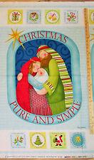Christmas Pure & Simple Nativity Religious Benartex Fabric 23
