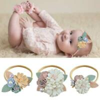 Baby Headband Floral Girls Elastic Hairbands Photography Hair Access Top