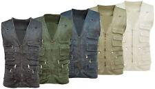 Mens Multi Pocket Utility Vest | Waistcoat | Fishing | Travelling | Hiking
