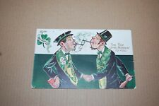 "Antique St Patrick'S Day Postcard ""Top Of The Morin' To You"" Postmarked 1908"