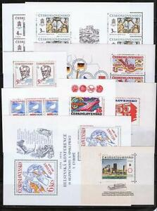 CZECHOSLOVAKIA 1960/80's COLLECTION of 9 S/S MNH PAINTINGS, SPACE