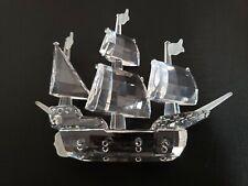 Swarovski Silver Crystal Ship Figurine Art 7473 Made In Austria