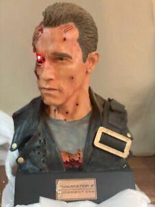 Sideshow Terminator T2 Arnold Battle Damaged T800 1:1 Life Size Bust 254/750-NEW