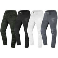 NEW Men Ripped Distressed Biker Denim Jeans Stretchy Fabric Regular Fit 32-44