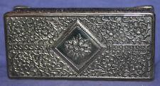 Vintage ornate floral metal jewelry box