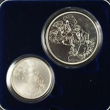 1994 Israel Sheqalim Biblical Art 2 Coin Silver Proof & UNC Set w/ Box & COA