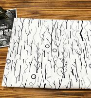 Winter trees 100% Cotton Fabric / BY THE YARD / Modern Forest tree JC9/68*