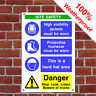Multi message site safety Health and safety signs CONS019 durable & weatherproof