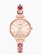 Kate Spade KSW1463 Metro Western Rivet Vachetta Pink Leather Women's Watch NIB