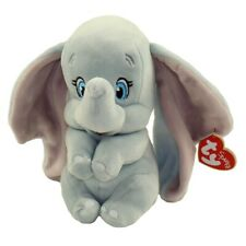 "2019 TY Beanie Buddy 9"" Medium DUMBO Elephant Plush Stuffed Animal w/ Heart Tags"