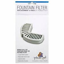 New listing Pioneer Pet Replacement Filters For Ceramic And Stainless Steel Fountains 3-Pack
