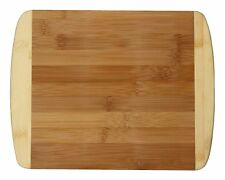 """Totally Bamboo 11"""" Cutting Board 2-Tone Chopping Serve Eco-Friendly Durable Wood"""