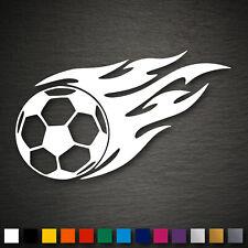 14075 Fussball mit Flammen Aufkleber 89x184mm Fußball WM EM Ball Sport Auto