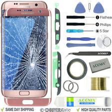 Samsung Galaxy S7 Edge Rose Or écran de remplacement Lentille Kit réparation +
