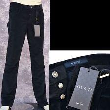 GUCCI New sz 48 - 32 Authentic Designer Mens Logo Pants Jeans black corduroy