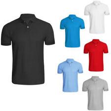 Camisetas de hombre azul de algodón y poliéster