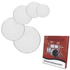 "New Professional 12"" 13"" 14"" 16"" 22"" Drum Heads Drum Skins Set White"